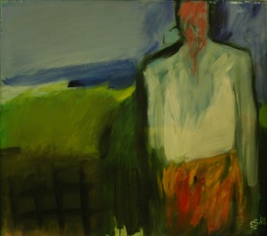 figuur in landschap (80x70) 1982